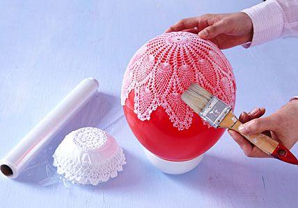 DIY Lace bowls...so easy!