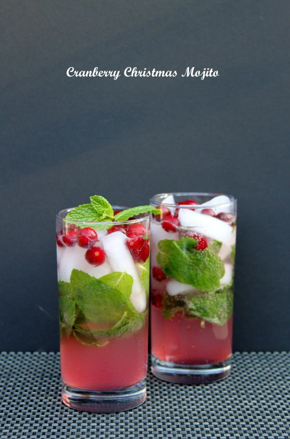 Cranberry Christmas Mojito | Food | Pinterest
