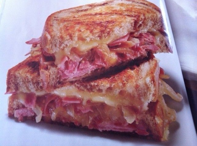 Yum... Id Pinch That! | Corned Beef Grilled Cheese Sandwich