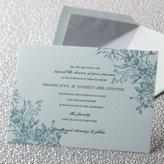 tradition of the bride's parents sending out the wedding invitations ...
