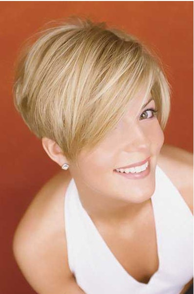 short style long in front short in back Hairstyles