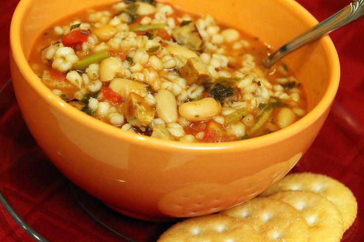 Chicken Sausage, Barley & Bean Soup | Warming Soups & Stews | Pintere...