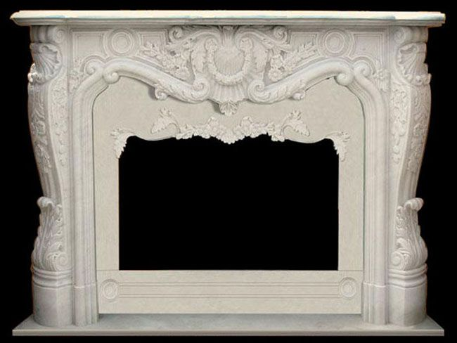 French Marble Mantels White Fireplaces Fireplace