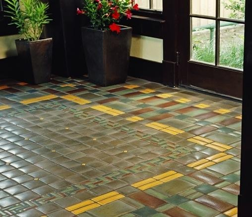 Tile floor craftsman bungalow ideas pinterest for Craftsman style flooring