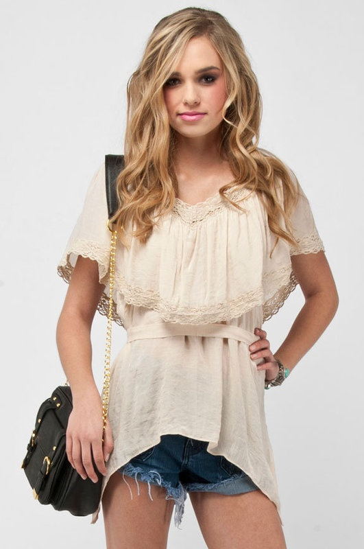 Love this- Lovely Lace Boho Top from Tobi :)