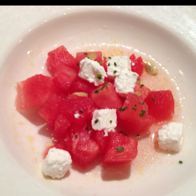 Watermelon and feta cheese   healthy goodies   Pinterest