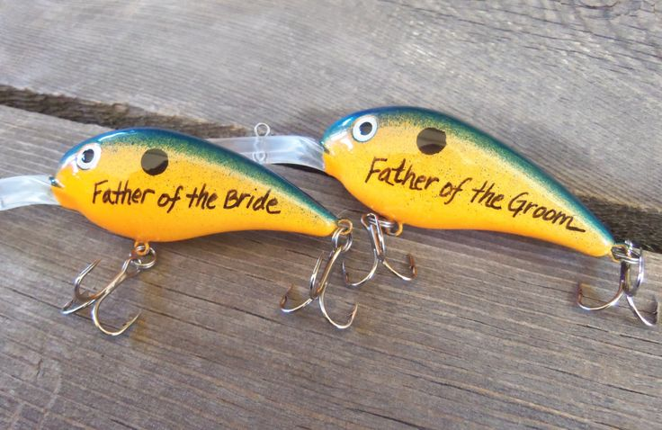Personalized fishing lure painted lures wedding gift for Personalized fishing lures