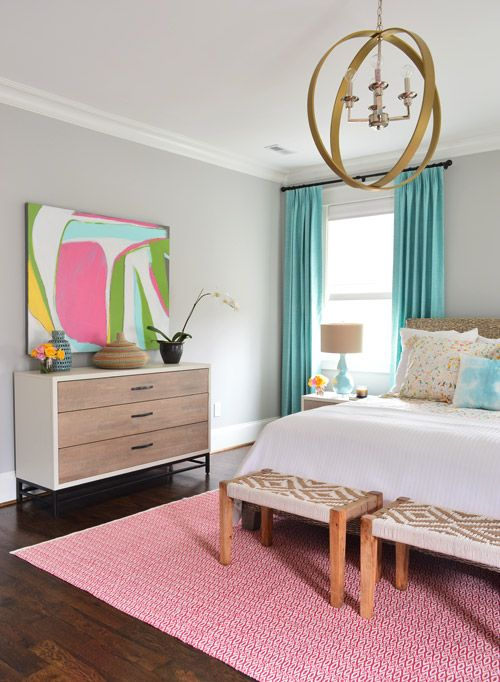 beautiful bedroom | bold artwork | Young House Love