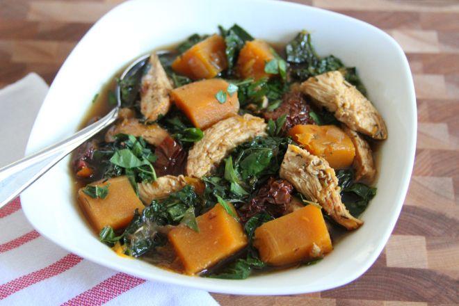 squash lentil kale salad with tahini dressing quinoa butternut squash ...