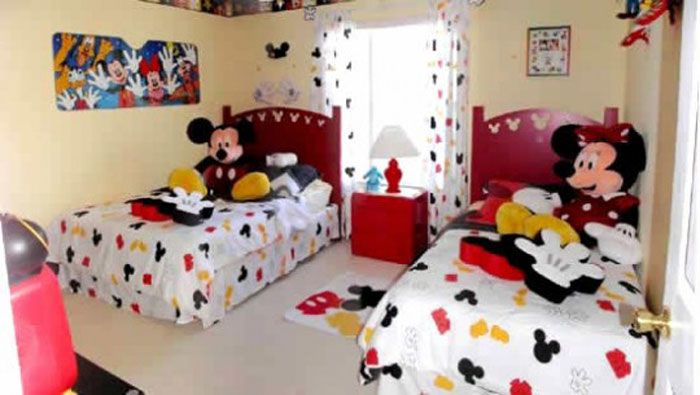Commickey Mouse Kids Room : Mickey Mouse Kids Room Designs and Furniture : Cute Beige Mickey Mouse ...
