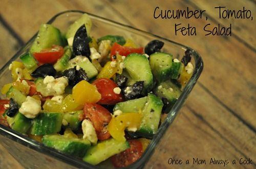 Cucumber, Tomato & Feta Salad | All things CULINARY | Pinterest
