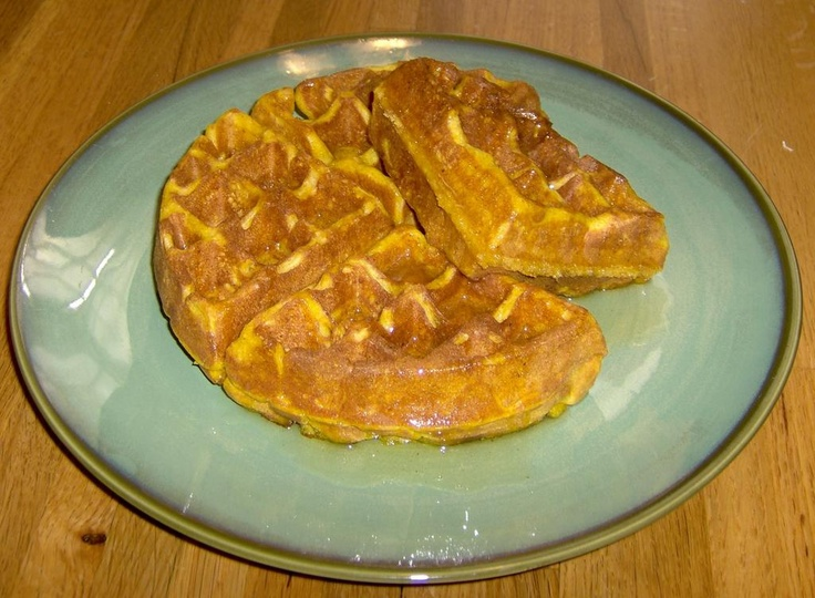 ... Now? ...and other stuff: Pumpkin Waffles with Apple Cider Syrup