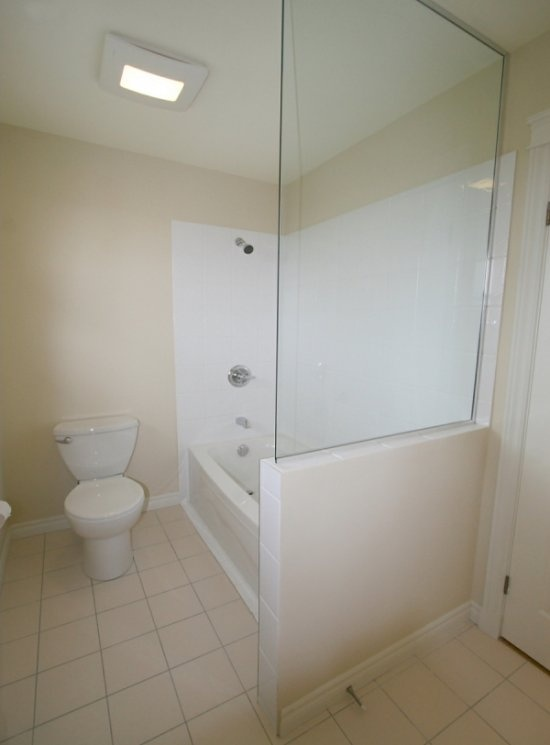 Glass partition bathroom pinterest