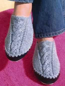 Free Knitting Patterns For Slippers On Pinterest : Slippers - free download Knit And Crochet Pinterest