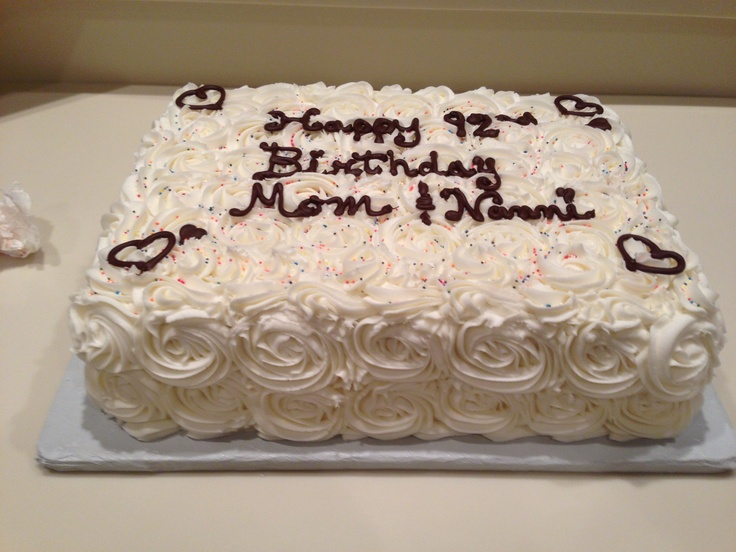 My mother in laws 92nd birthday cake  My Cakes  Pinterest