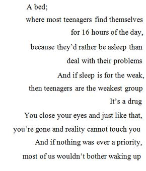 Quotes written my teens