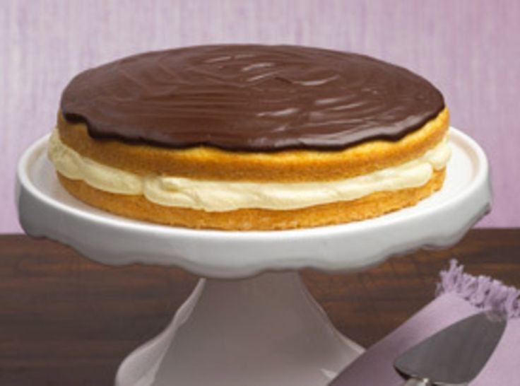 Boston Cream Pie Cake | Homemade Cakes | Pinterest