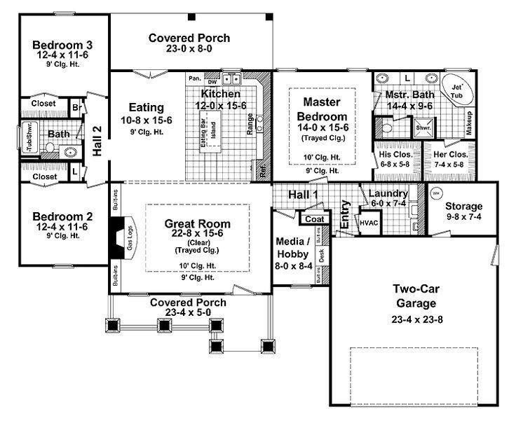 one story craftsman floor plans joy studio design
