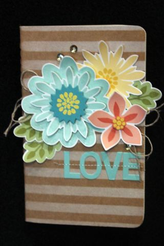 Hand decorated journal from the 2014 Australian Convention displays. Uses Flower Patch Stamp Set by Stampin' Up! Order your new 2014 Australian Stampin' Up! catalogue now. Just follow the picture link. Claire Daly, Stampin' Up! Melbourne Australia