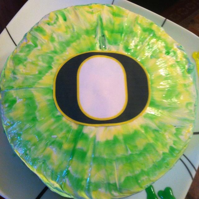 Oregon Ducks Cake Topper