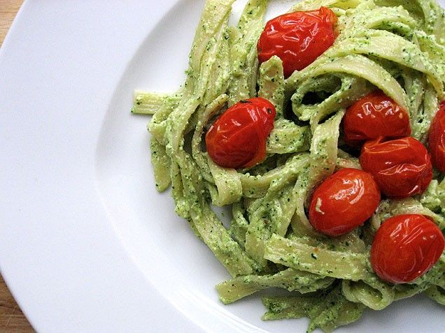 Sage Walnut Pesto Pasta with Oven Roasted Tomatoes- I have made this ...