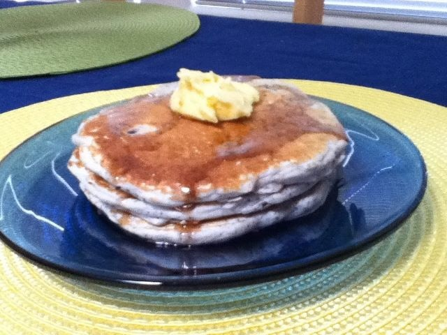 Cornmeal Pancakes With Orange Maple Butter Recipe — Dishmaps