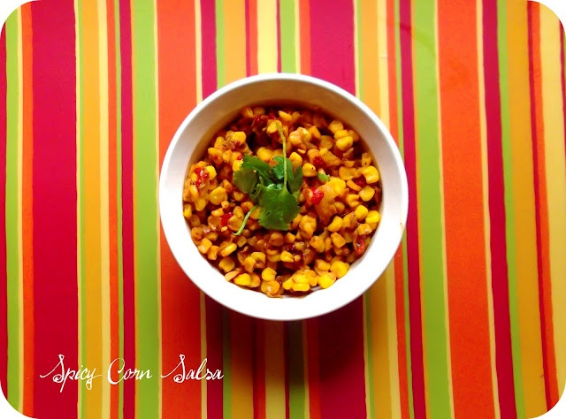 Easy Spicy Corn Salsa | One Course at a Time | Pinterest