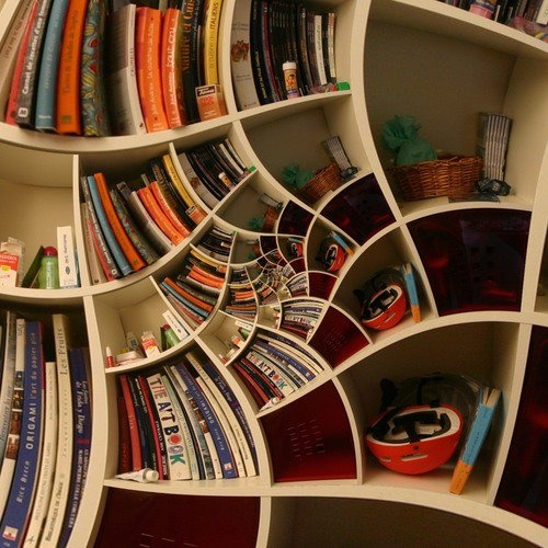funky shelving cool pinterest
