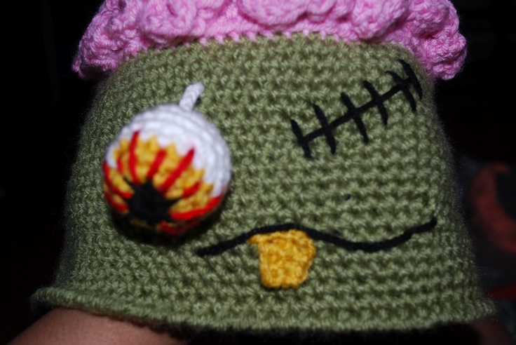 Free Crochet Patterns Zombie : FREE Pattern for a Crochet Zombie Hat Crochet it Pinterest