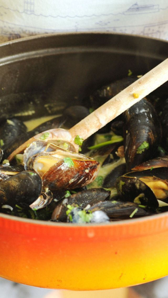 Coconut Curry Mussels | Cooking ~ Recipes | Pinterest