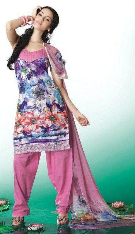 Casual Printed Shalwar Kameez Collection 2012 For Summer 0010