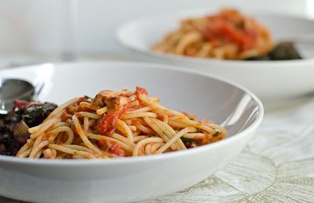 Spaghetti with Tuna and Tomato | Seafood Recipes | Pinterest