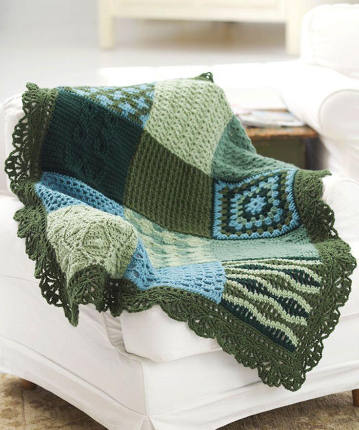 Crochet Pattern For Edging On Afghan : Crochet sampler afghan - love the edging Crochet Pinterest