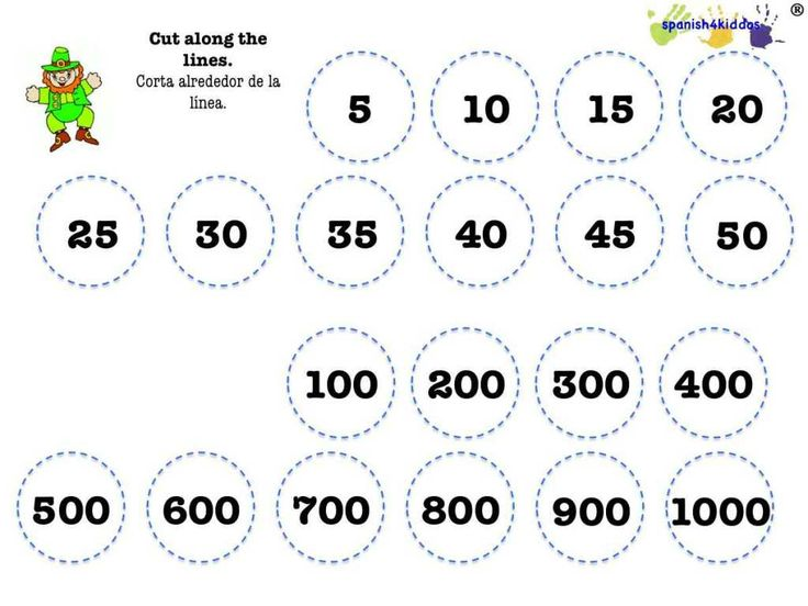 counting Spanish numbers 5s and 100s | Free Spanish Worksheets for Ki ...