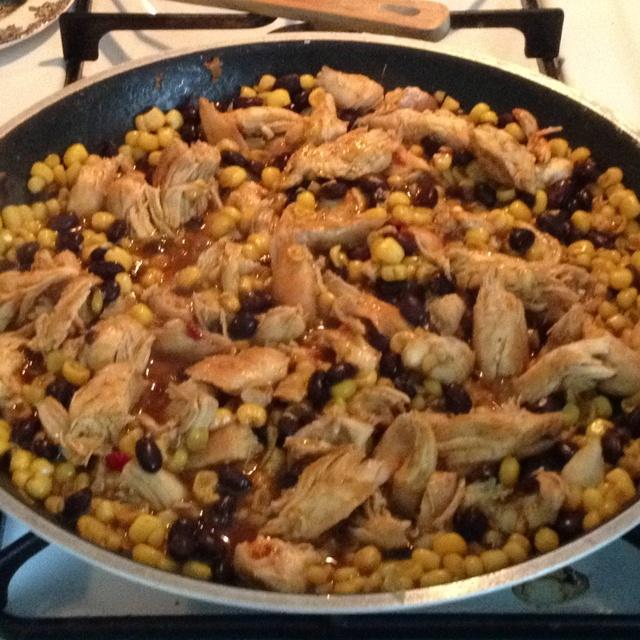 Chicken, black bean & corn taco mixture | Chicken Dishes | Pinterest