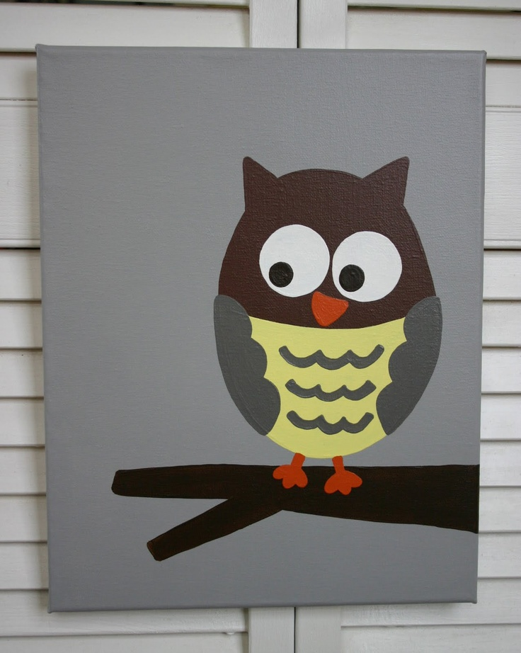 Nursery paint owl : Painted owl. i would love this!