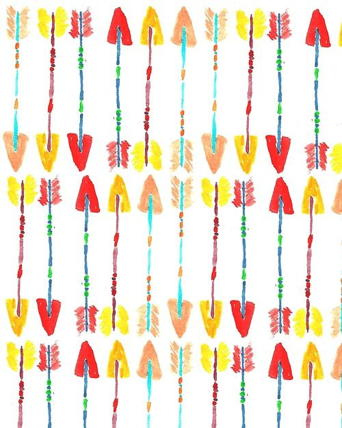 Colorful Arrows. #pattern #illustration