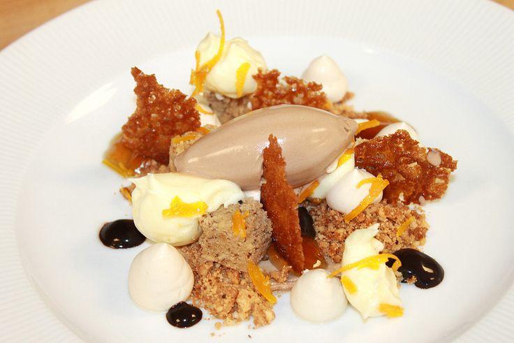 ... Gelee, Chocolate Ice Cream, Toasted Hazelnut Cake and Orange Tuile