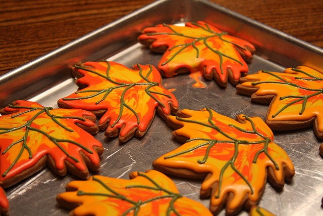 Fall Maple Leaf Cookies | Autumn Mosaic | Pinterest