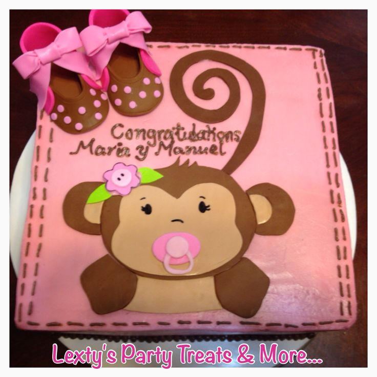Monkey baby shower theme cake my cakes other sweets pinterest - Baby shower monkey theme cakes ...