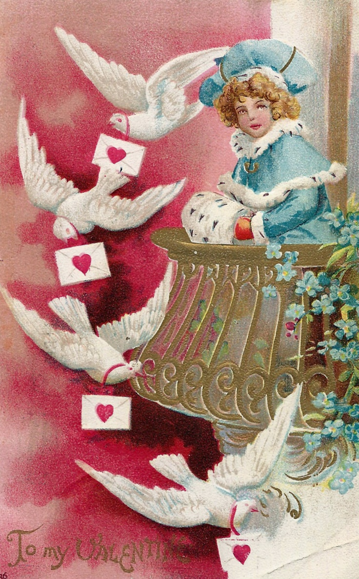 vintage valentine heart candy box