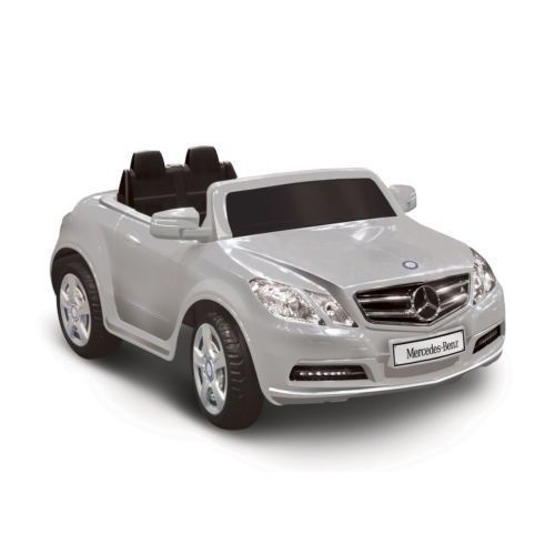 Power wheel motorized mercedes benz e550 silver 1 seater for Mercedes benz e550 ride on