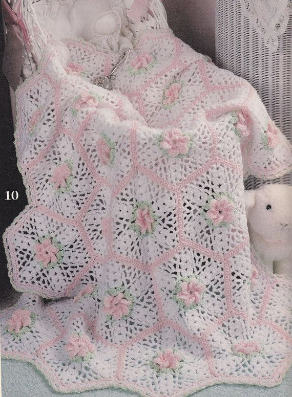 Baby Afghan Crochet Patterns - Lacy Lullabies - 10 Designs