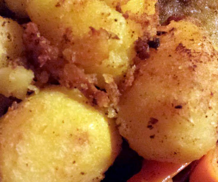 "Crunchy Roast Potatoes! ""The best crunchy potatoes.Soft inside crunchy ..."