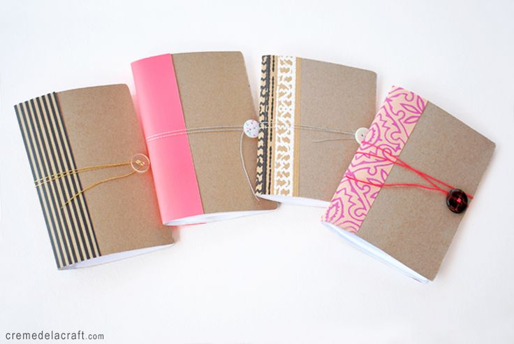 DIY: mini notebook from cereal box