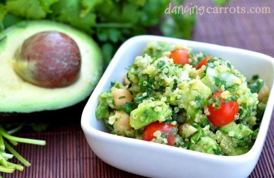 Lemony Quinoa & Avocado Salad