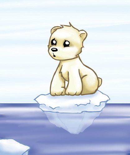 Cute animated polar bear