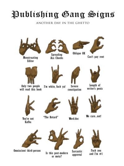 gang hand signs...