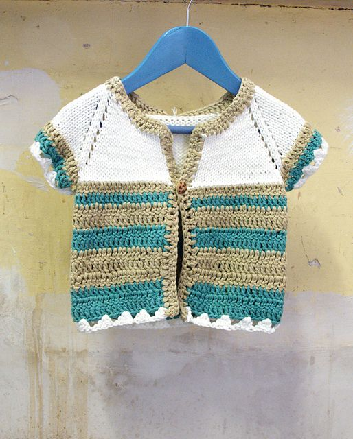 Knitting Patterns Summer Jackets : Baby Boy Summer Cardigan Knitting Pattern - Long Sweater Jacket