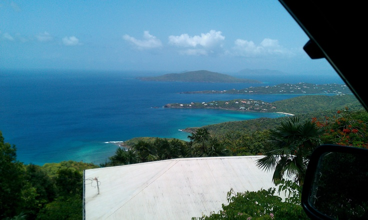 a view of Magens Bay from up top, St. Thomas, USVI